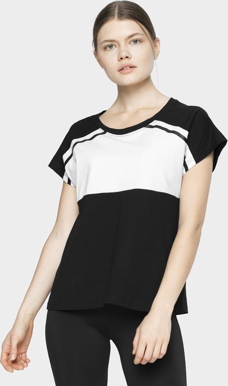 T-shirt 4F z okrągłym dekoltem z bawełny