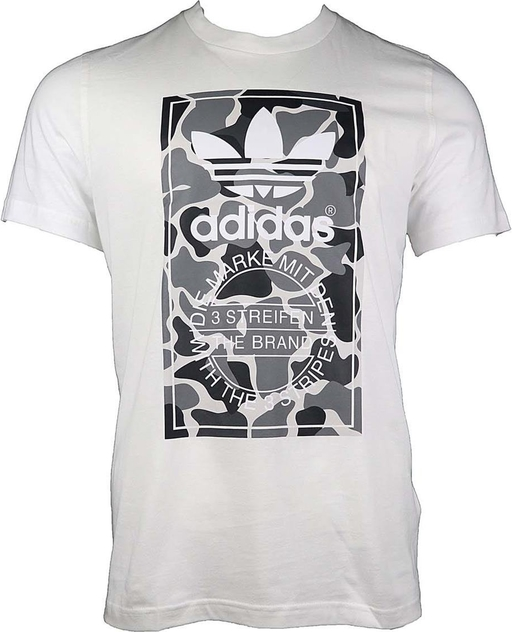 T-shirt Adidas w młodzieżowym stylu z bawełny z krótkim rękawem
