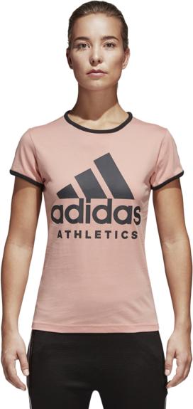 dobrze rozwinięty T-shirt Adidas z bawełny Odzież Damskie Topy i koszulki damskie RV OIZGRV-6