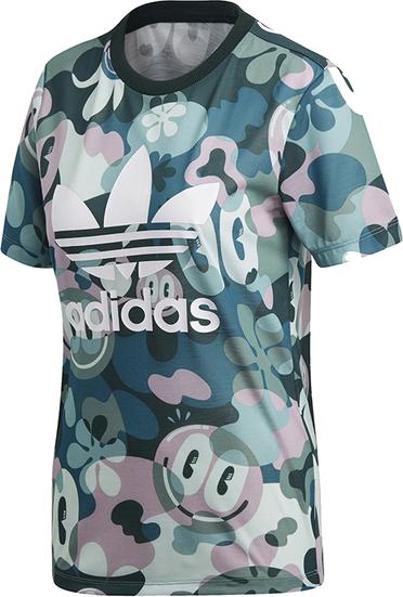 T-shirt Adidas z dzianiny Odzież Damskie Topy i koszulki damskie GK AYGVGK-3 ekonomiczny