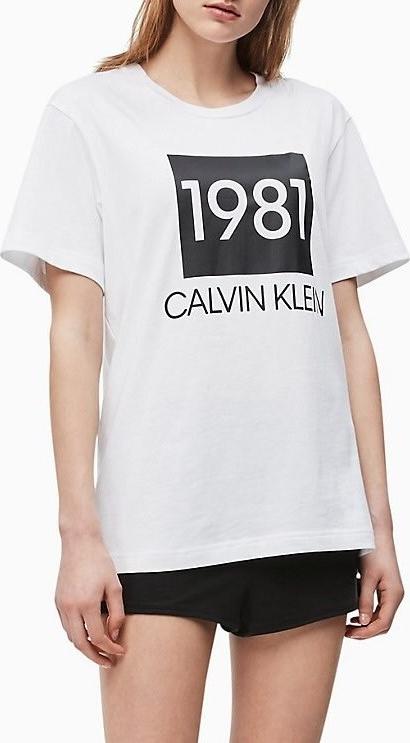 T shirt Calvin Klein z krÓtkim rękawem Odzież Damskie Topy i