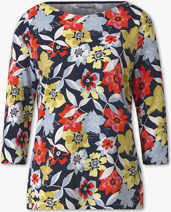 T-shirt CANDA z długim rękawem z okrągłym dekoltem Odzież Damskie Topy i koszulki damskie IB FOSPIB-6 ZMNIEJSZONE O 50%