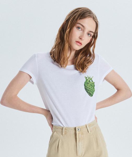 T-shirt Cropp w młodzieżowym stylu z krótkim rękawem z okrągłym dekoltem