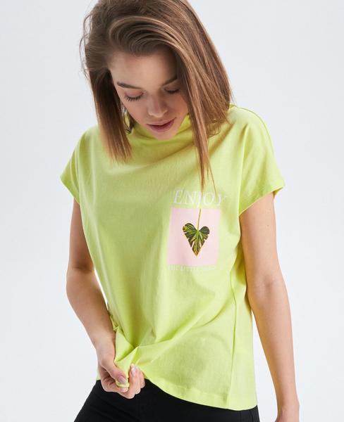 T-shirt Cropp w stylu casual z krótkim rękawem