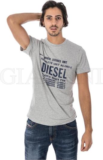 T-shirt Diesel z bawełny