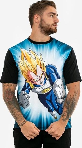 T-shirt Dragon Ball z bawełny z krótkim rękawem z nadrukiem