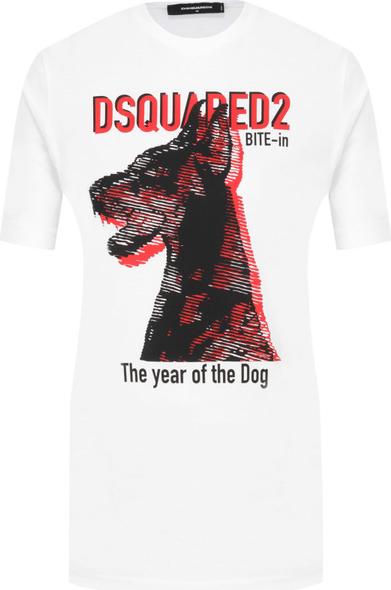 trwałe modelowanie T-shirt Dsquared2 z krÓtkim rękawem w młodzieżowym stylu Odzież Damskie Topy i koszulki damskie OC QWDUOC-3