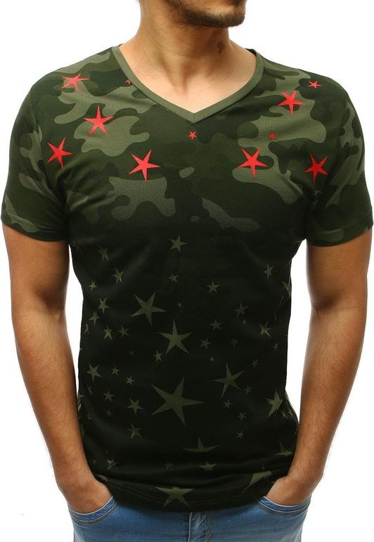 T-shirt Dstreet w militarnym stylu z krótkim rękawem
