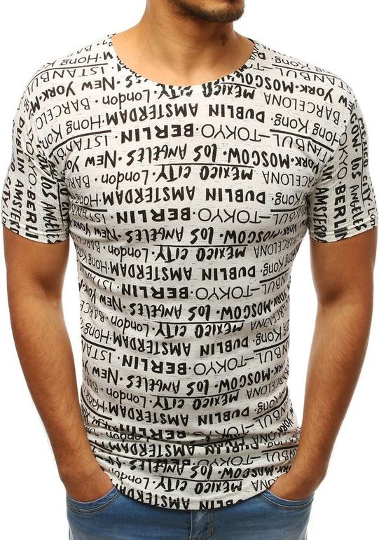 T-shirt Dstreet w młodzieżowym stylu z nadrukiem z krótkim rękawem