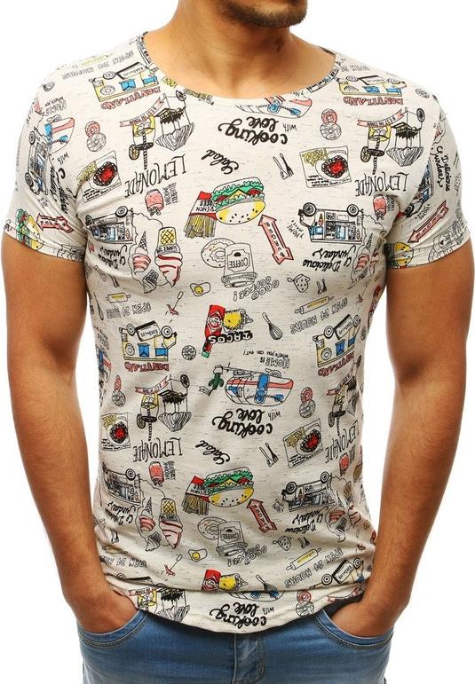T-shirt Dstreet z nadrukiem z tkaniny z krótkim rękawem