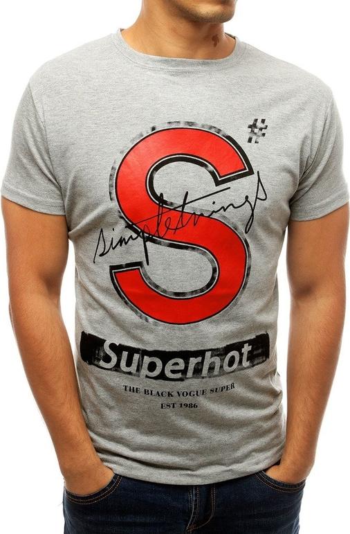T-shirt Dstreet z tkaniny z krótkim rękawem