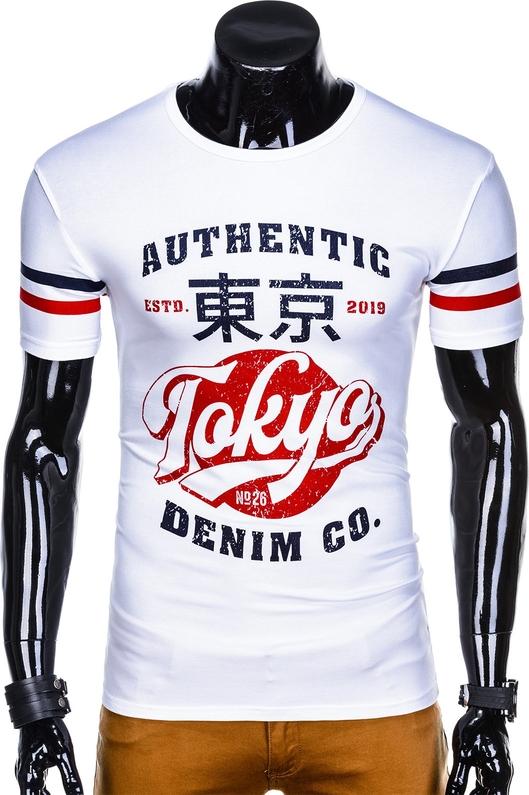 T-shirt Edoti w młodzieżowym stylu z krótkim rękawem z nadrukiem