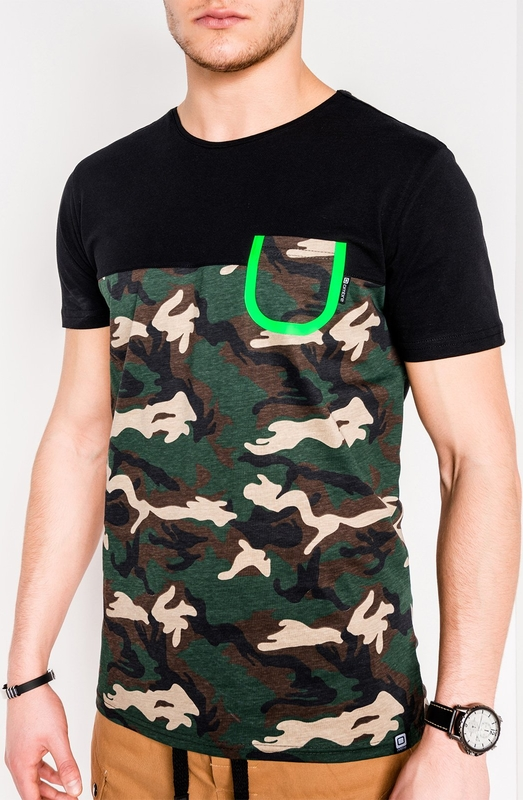 T-shirt Edoti z nadrukiem z krótkim rękawem