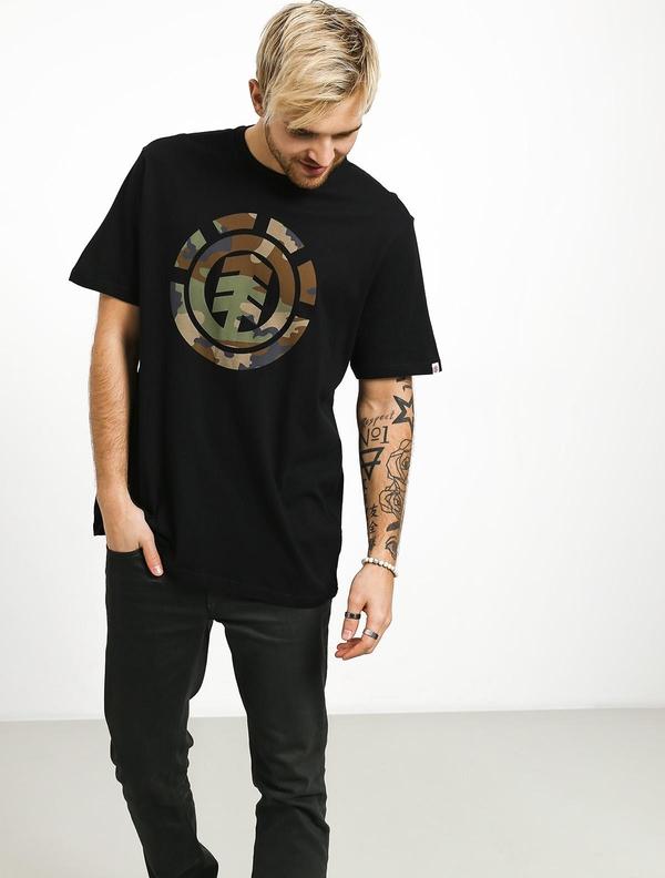 T-shirt Element z bawełny z krótkim rękawem z nadrukiem