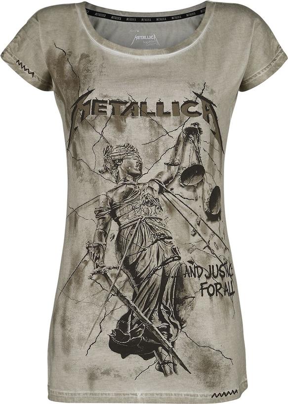 T-shirt Emp z bawełny z krótkim rękawem z okrągłym dekoltem