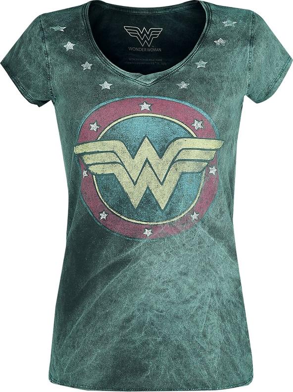 T-shirt Emp z bawełny z nadrukiem z okrągłym dekoltem