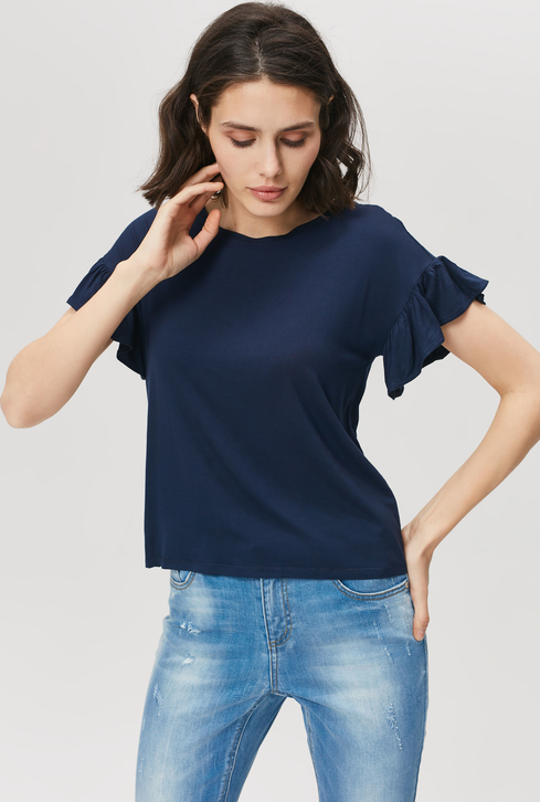 T-shirt FEMESTAGE Eva Minge z okrągłym dekoltem z krótkim rękawem