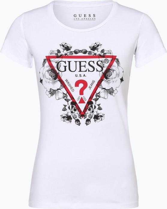 T-shirt Guess Jeans w młodzieżowym stylu