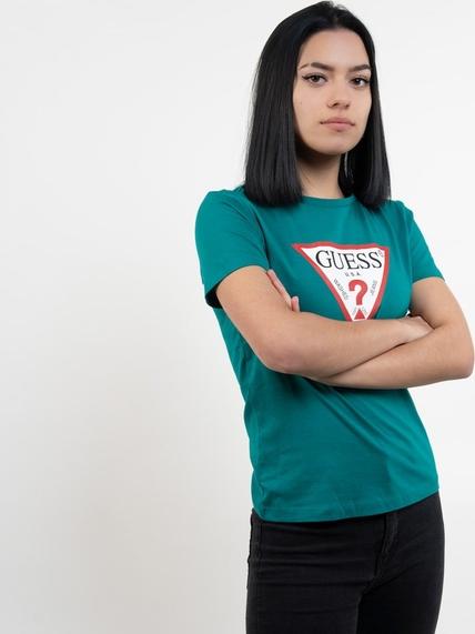 T-shirt Guess z bawełny z krótkim rękawem