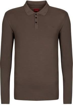 T-shirt Guess z dżerseju z długim rękawem