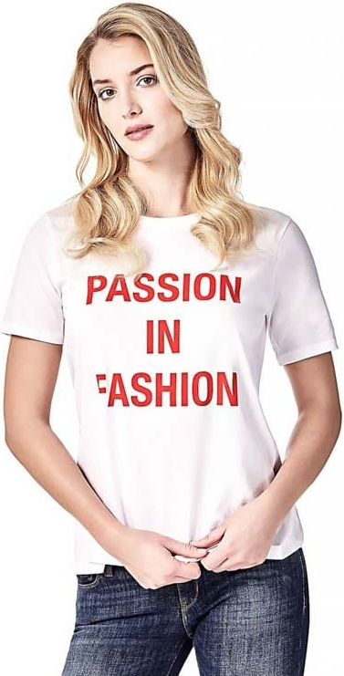 oferta T-shirt Guess z okrągłym dekoltem z krÓtkim rękawem Odzież Damskie Topy i koszulki damskie TJ MDKGTJ-1