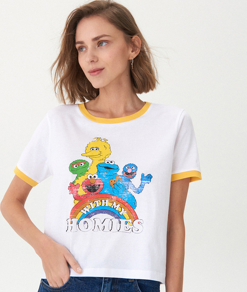 T-shirt House z okrągłym dekoltem