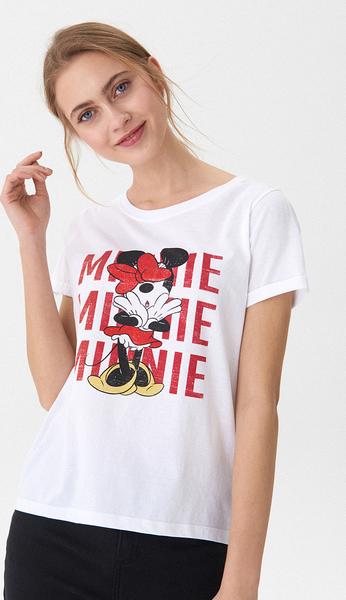 T-shirt House z okrągłym dekoltem z krótkim rękawem w młodzieżowym stylu