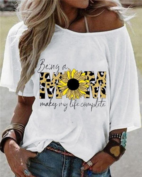 T-shirt Kendallme w młodzieżowym stylu z krótkim rękawem z okrągłym dekoltem