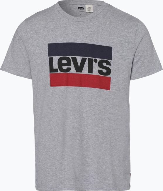 T shirt Levis z dżerseju z nadrukiem z krótkim rękawem
