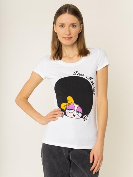 T-shirt Love Moschino w młodzieżowym stylu z krótkim rękawem z nadrukiem