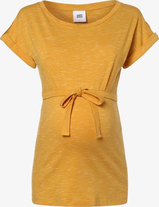 T-shirt Mama Licious w stylu casual z okrągłym dekoltem