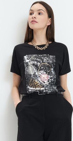 T-shirt Mohito z krótkim rękawem z okrągłym dekoltem