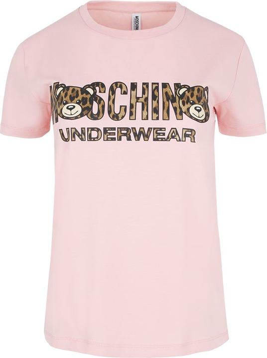 70% ZNIŻKI T-shirt Moschino Underwear w młodzieżowym stylu z krÓtkim rękawem Odzież Damskie Topy i koszulki damskie FG AKPNFG-9