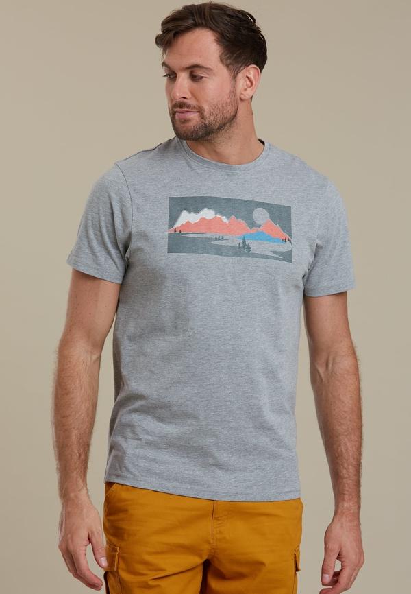T-shirt Mountain Warehouse z krótkim rękawem z bawełny w młodzieżowym stylu