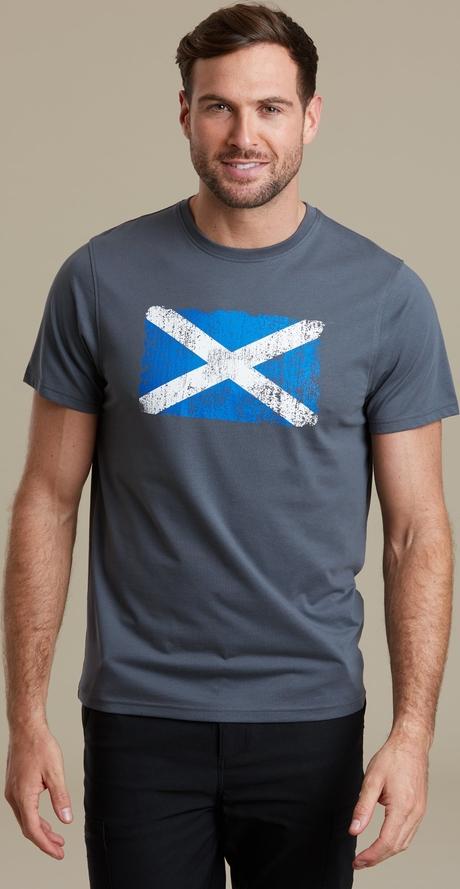 T-shirt Mountain Warehouse z tkaniny w młodzieżowym stylu z krótkim rękawem
