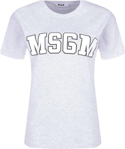 T-shirt MSGM w młodzieżowym stylu z krótkim rękawem z okrągłym dekoltem
