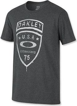 T-shirt Oakley w młodzieżowym stylu z krótkim rękawem z tkaniny