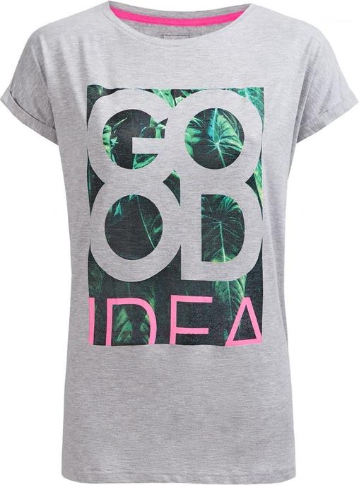 T-shirt Outhorn z okrągłym dekoltem z krótkim rękawem w młodzieżowym stylu