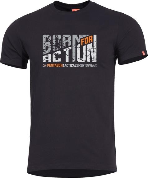 T-shirt Pentagon w młodzieżowym stylu z bawełny