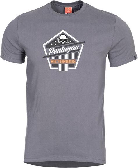 T-shirt Pentagon z tkaniny w młodzieżowym stylu z krótkim rękawem