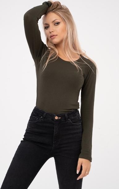 T-shirt Point X z bawełny z długim rękawem