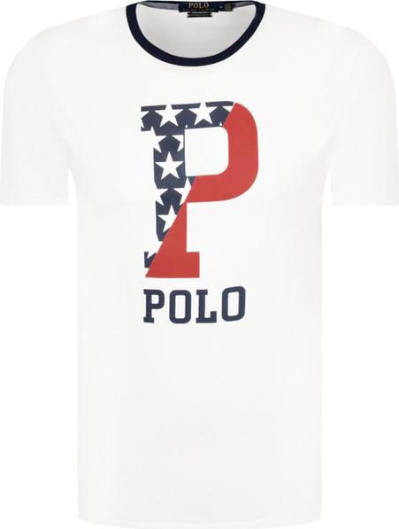 T-shirt POLO RALPH LAUREN z nadrukiem z krótkim rękawem w młodzieżowym stylu