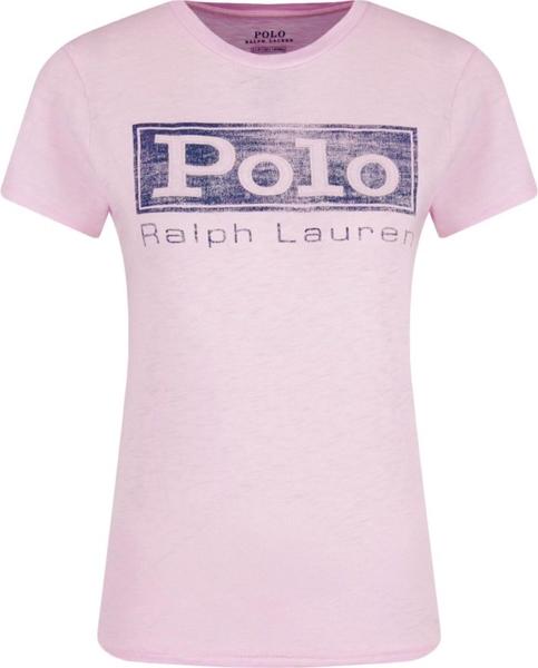 T-shirt POLO RALPH LAUREN z okrągłym dekoltem Odzież Damskie Topy i koszulki damskie UU NUWDUU-7 piękny