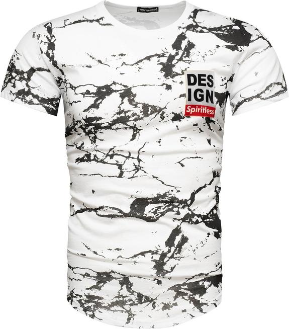 T-shirt Recea z krótkim rękawem z bawełny w młodzieżowym stylu