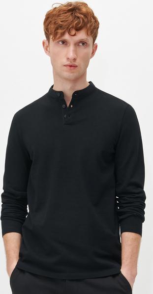 T-shirt Reserved z długim rękawem w stylu casual z bawełny