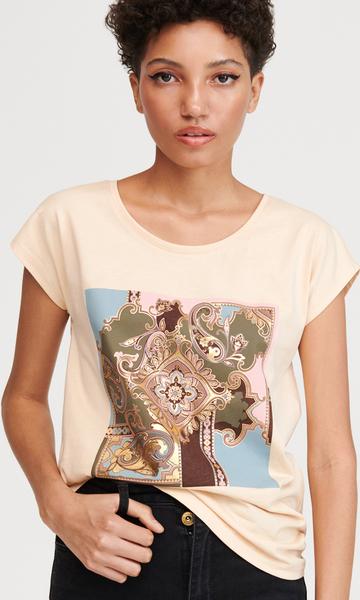 dobra jakość T shirt Cropp w młodzieżowym stylu z krÓtkim