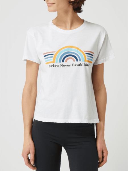 T-shirt Review z krótkim rękawem z bawełny