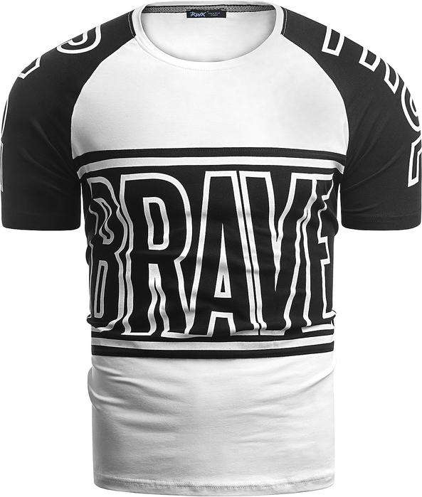 T-shirt Risardi z nadrukiem z krótkim rękawem w młodzieżowym stylu