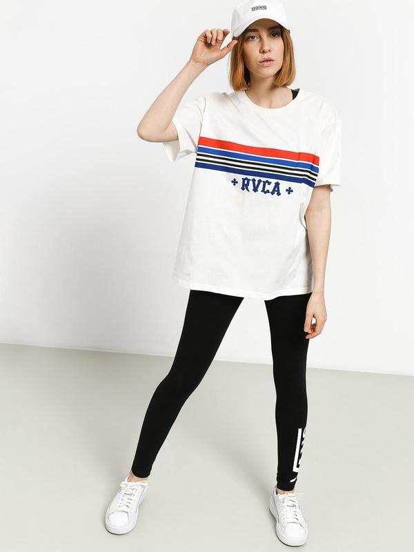 T-shirt RVCA z okrągłym dekoltem z krótkim rękawem z bawełny
