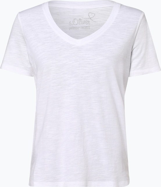 T-shirt S.Oliver z dekoltem w kształcie litery v